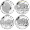 2014 BISON 4-COIN SET (4 X 1OZ. $20 FINE SILVER COINS) r