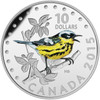 2015 $10 FINE SILVER 5-COIN SET - COLOURFUL SONGBIRDS OF CANADA WITH MUSICAL BOX!