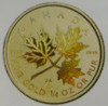 2001 $10 1/4OZ. HOLOGRAM GOLD MAPLE LEAF COIN