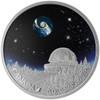 2016 $20 FINE SILVER COIN - THE UNIVERSE - BOROSILICATE GLASS - GLOW-IN-THE-DARK