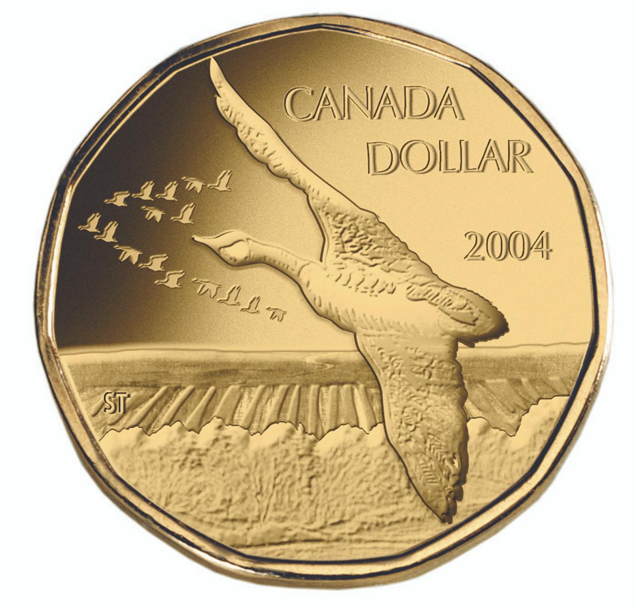 2004 Canada Specimen Loonie Dollar Elusive Loon