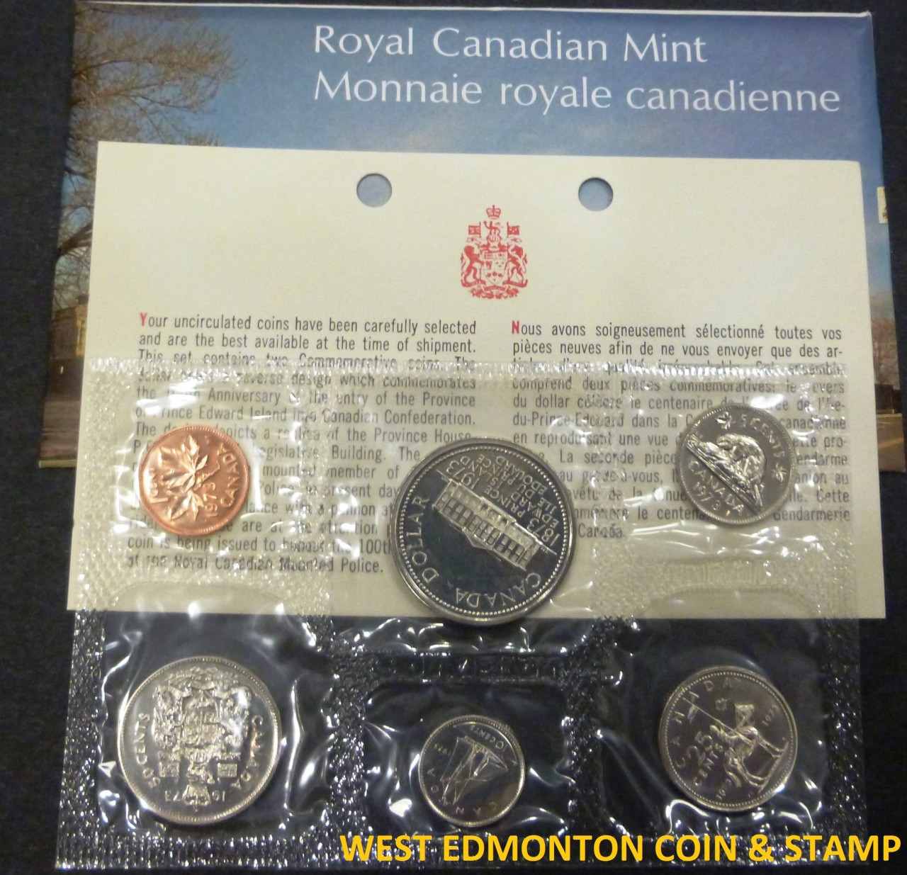 NO ENVELOPE 1965 CANADIAN MINT UNCIRCULATED COIN SET