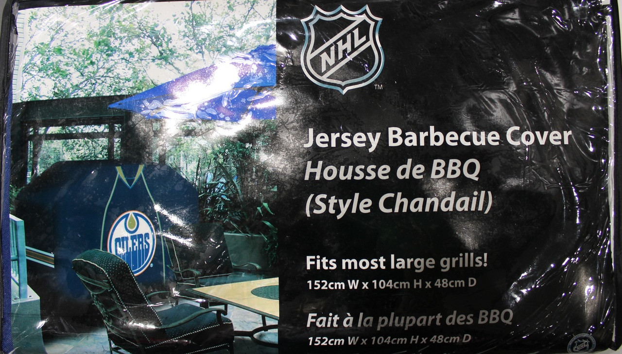 pretty nice 757ff 791c0 NHL JERSEY BBQ COVER - EDMONTON OILERS