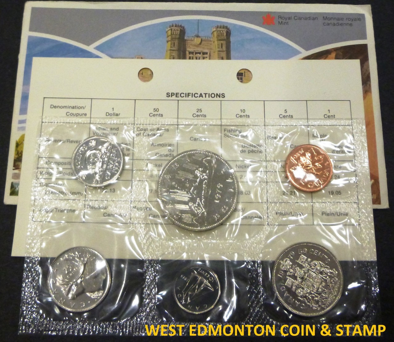Royal Canadian Mint Uncirculated Issue PL Set 1979 Canada Proof Like