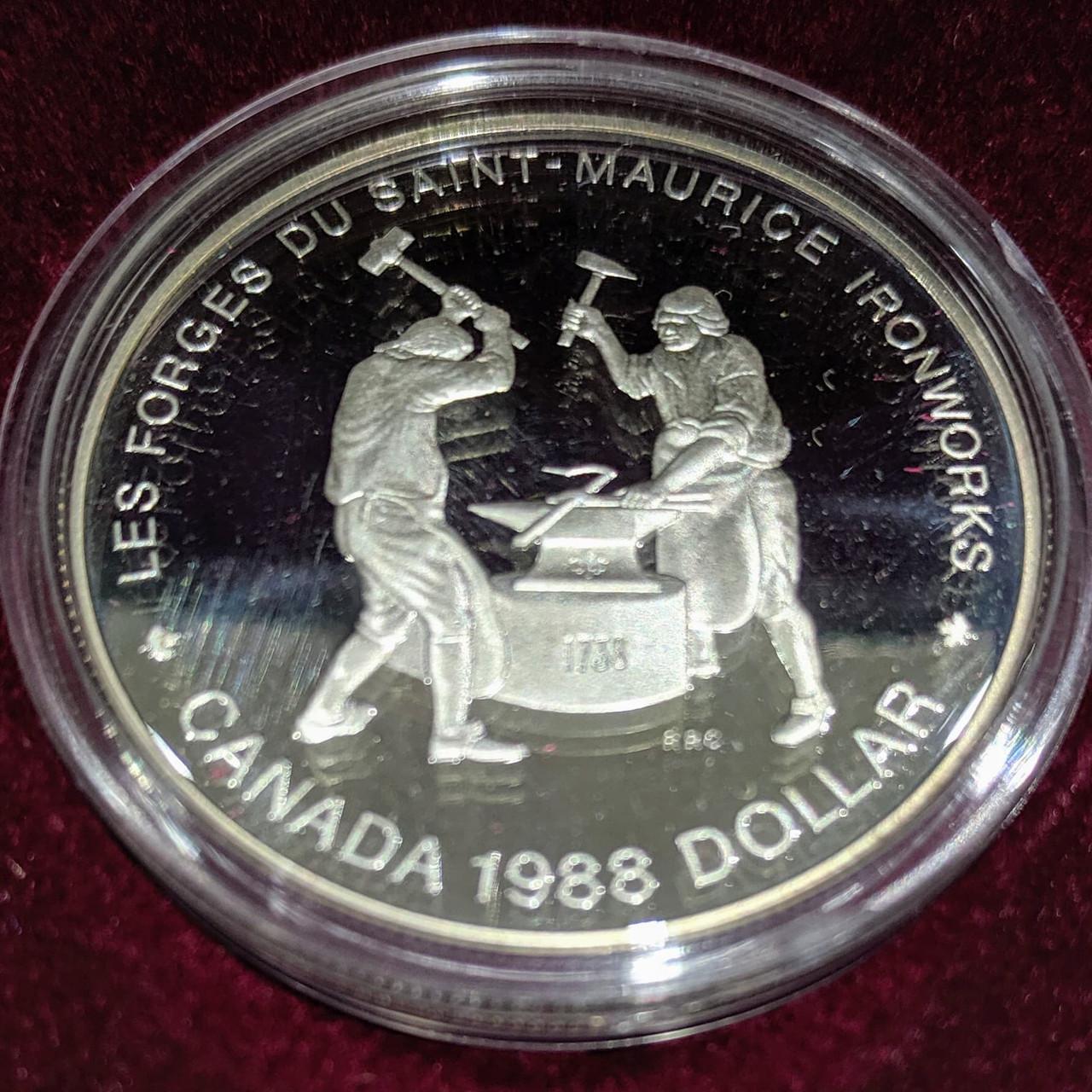 Canadian Pacific Railway Centennial 1981 CANADA UNC PROOF SILVER DOLLAR