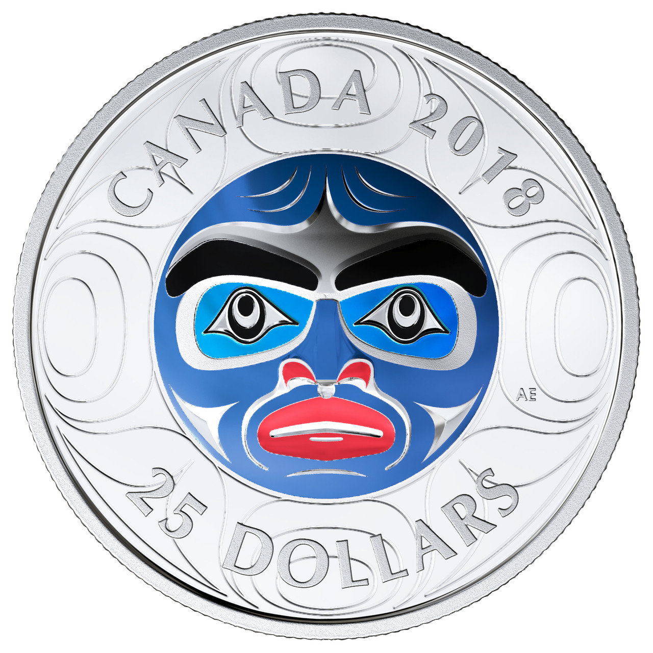 Canada 2013 Native American Grandmother Moon Mask $25 Pure Silver High Relief