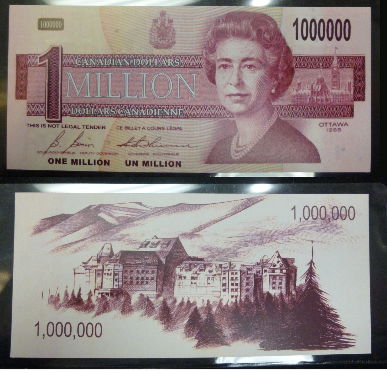 NOVELTY CANADIAN 1000000 MILLION DOLLAR BILL NOTE PAPER MONEY GAG GIFT