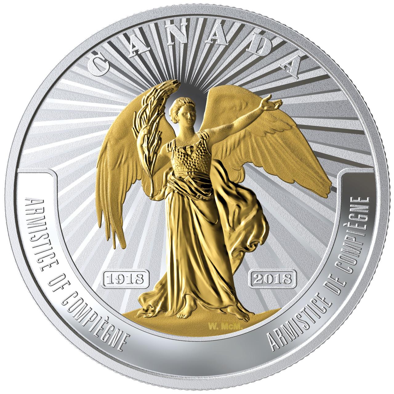 2018 France 10 Euro Silver Peace World War I Armistice in capsule