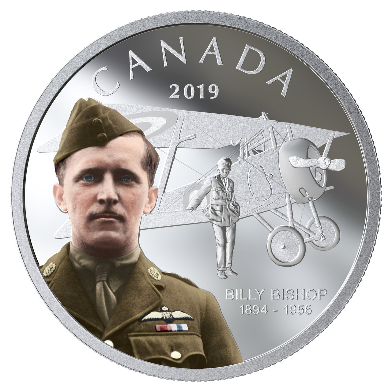 2019 $20 FINE SILVER COIN 125TH ANNIVERSARY OF THE BIRTH OF BILLY BISHOP