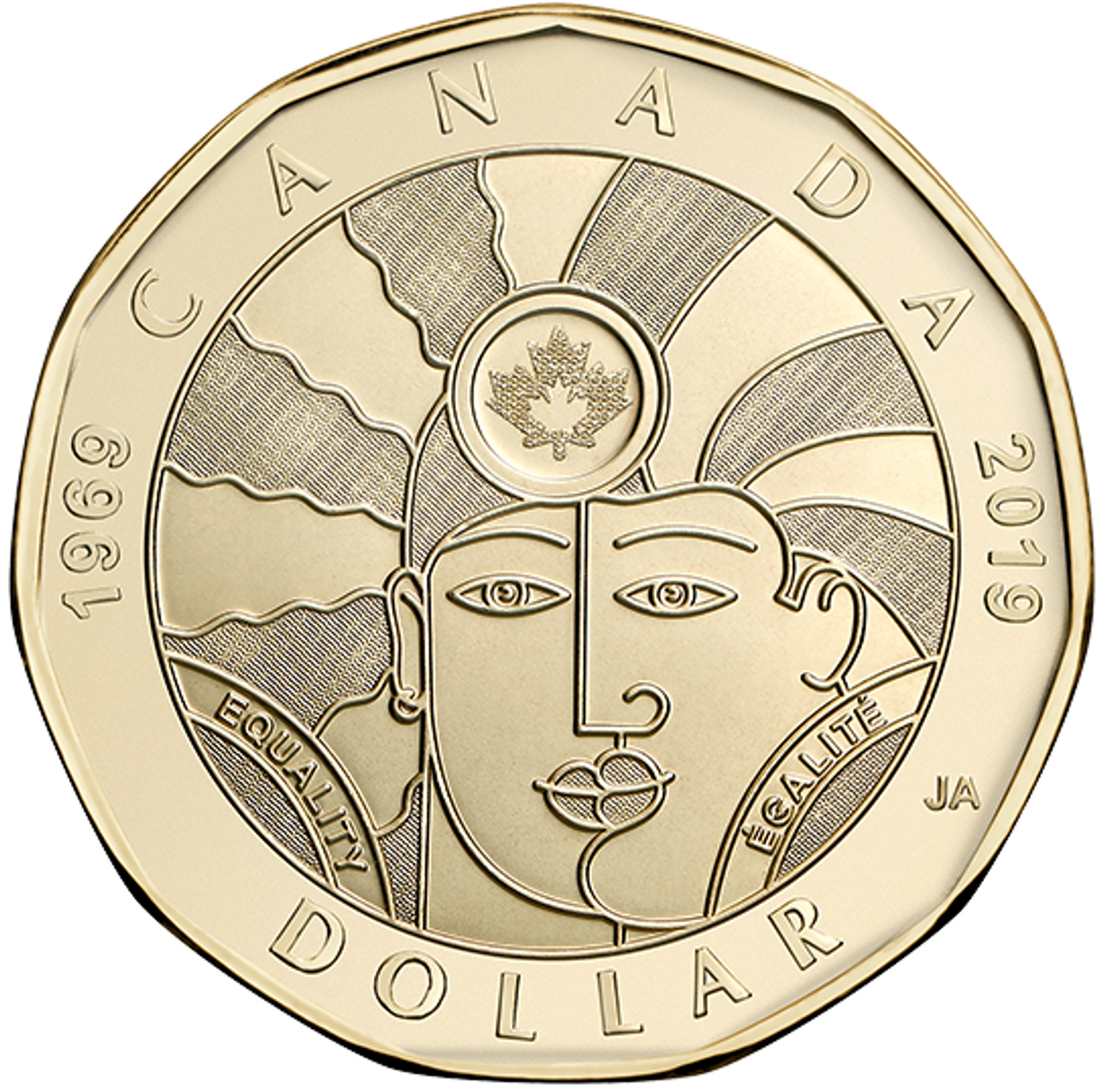 from set coin only 2019 Canada Classic design Toonie $2 proof finish steel