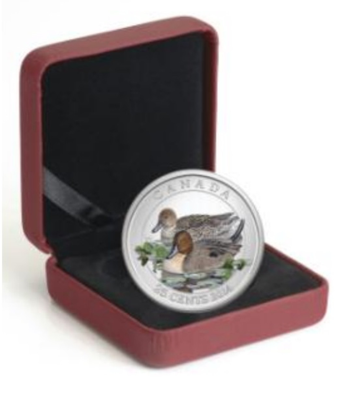 2014 Canada Scarlet Tanager 2014 Coloured Coin In Royal Canadian Mint Pack.