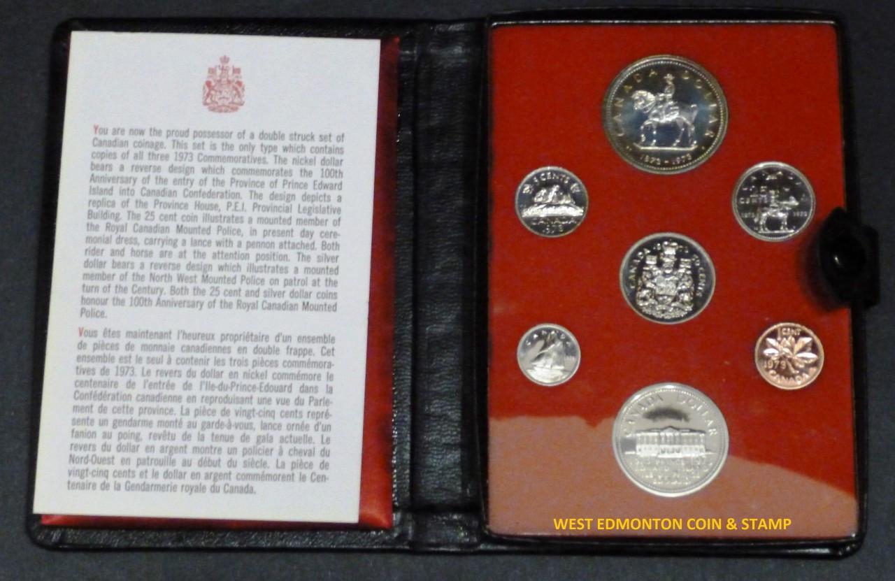 1973 Canada PEI Prince Edward Island 7 Coin Double Dollar Prestige Set