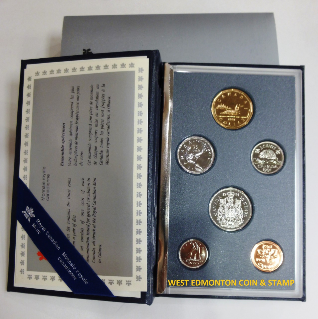 1991 CANADA LOONIE PROOF-LIKE ONE DOLLAR COIN