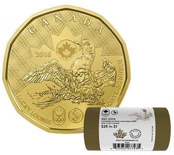 2016 LUCKY LOONIE 1-DOLLAR SPECIAL WRAP ROLL