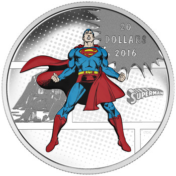 2016 $20 FINE SILVER 3-COIN SET DC COMICS™ ORIGINALS -  WITH GLOW-IN-THE-DARK CASE!