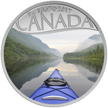 2017 $10 FINE SILVER COIN CELEBRATING CANADA'S 150TH: KAYAKING ON THE RIVER
