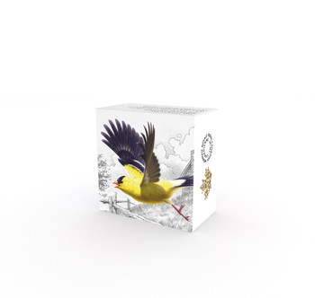2016 $20 FINE SILVER COIN THE MIGRATORY BIRDS CONVENTION: 100 YEARS OF PROTECTION THE AMERICAN GOLDFINCH