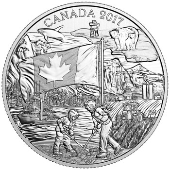 2017 $3 FINE SILVER COIN THE SPIRIT OF CANADA