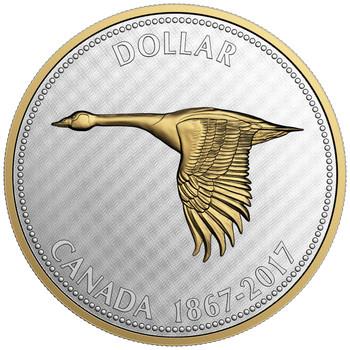 2017 5-OUNCE FINE SILVER COIN - BIG COIN SERIES - ALEX COLVILLE DESIGNS: 1 DOLLAR