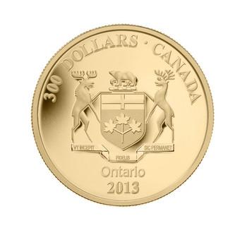 2013 14-KARAT GOLD COIN - ONTARIO COAT OF ARMS