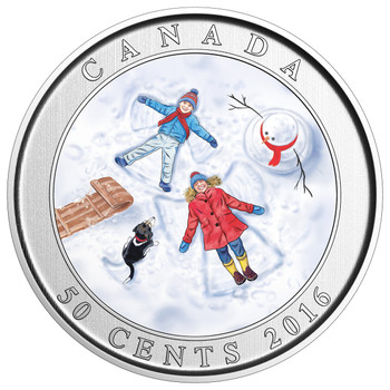 2016 50-CENT LENTICULAR COIN SNOW ANGELS