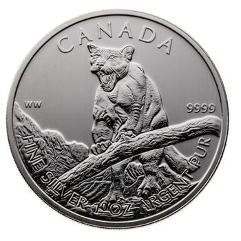 1oz. 2012 CANADIAN COUGAR SILVER COIN