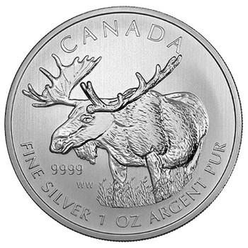 1oz. 2012 CANADIAN MOOSE SILVER COIN