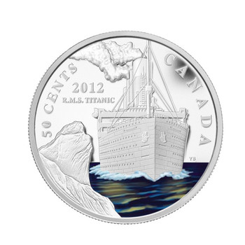 2012 50 CENT SILVER PLATED COIN - R.M.S. TITANIC