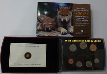 2012 7-COIN SPECIMEN SET - WOLF CUBS TOONIE