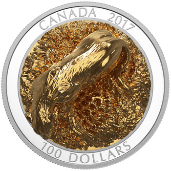 2017 $100 FINE SILVER COIN SCULPTURE OF MAJESTIC CANADIAN ANIMALS: COUGAR
