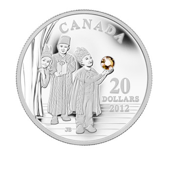 2012 FINE SILVER $20 COIN - THREE WISE MEN - MINTAGE: 10000
