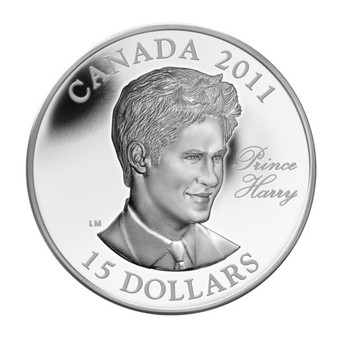2011 $15 ULTRA HIGH RELIEF SILVER COIN - PRINCE HARRY