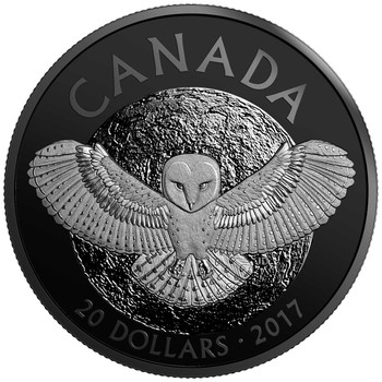 2017 $20 FINE SILVER COIN NOCTURNAL BY NATURE: THE BARN OWL