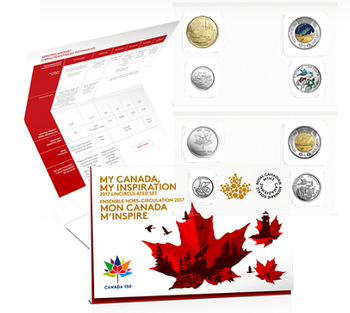 2017 MY CANADA, MY INSPIRATION UNCIRCULATED 8-COIN SET