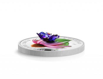 精制银币紫水晶和威尼斯玻璃东尾蓝蝴蝶