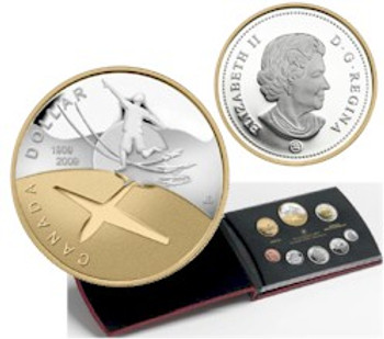 2009 PROOF DOUBLE DOLLAR SET - 100TH ANNIVERSARY OF FLIGHT IN CANADA