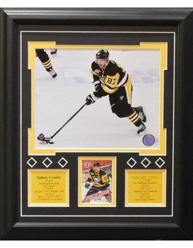 SIDNEY CROSBY 13X16 FRAME - PITTSBURGH PENGUINS