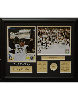SIDNEY CROSBY 2016 STANLEY CUP CHAMPIONS - PITTSBURGH PENGUINS 16X20 FRAME