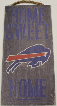 "BUFFALO BILLS - OFFICIAL NFL HOME SWEET HOME 6 X 12"" WOODEN SIGN"