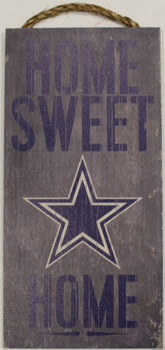 """DALLAS COWBOYS - OFFICIAL NFL HOME SWEET HOME 6 X 12"""" WOODEN SIGN"""