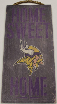 "MINNESOTA VIKINGS - OFFICIAL NFL HOME SWEET HOME 6 X 12"" WOODEN SIGN"