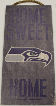"""SEATTLE SEAHAWKS - OFFICIAL NFL HOME SWEET HOME 6 X 12"""" WOODEN SIGN"""