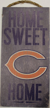 """CHICAGO BEARS - OFFICIAL NFL HOME SWEET HOME 6 X 12"""" WOODEN SIGN"""