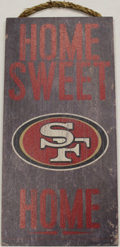 """SAN FRANCISCO 49ERS - OFFICIAL NFL HOME SWEET HOME 6 X 12"""" WOODEN SIGN"""