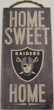 "OAKLAND RAIDERS - OFFICIAL NFL HOME SWEET HOME 6 X 12"" WOODEN SIGN"