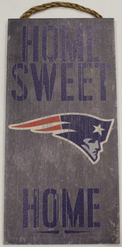 "NEW ENGLAND PATRIOTS - OFFICIAL NFL HOME SWEET HOME 6 X 12"" WOODEN SIGN"