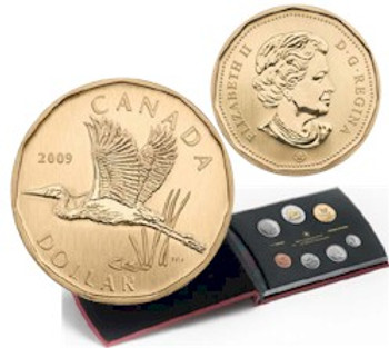 2009 7-COIN SPECIMEN SET - GREAT BLUE HERON LOONIE