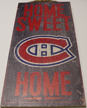 "MONTREAL CANADIENS OFFICIAL NHL HOME SWEET HOME 6 X 12"" WOODEN SIGN"