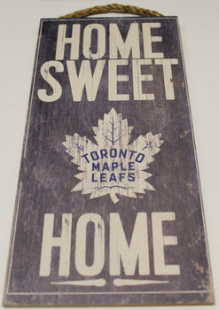"TORONTO MAPLE LEAFS OFFICIAL NHL HOME SWEET HOME 6 X 12"" WOODEN SIGN"