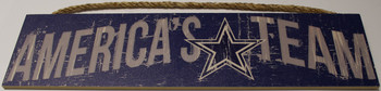 """DALLAS COWBOYS - OFFICIAL AMERICA'S TEAM 4 X 16"""" WOODEN SIGN"""